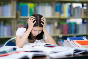 Student looking stressed