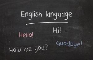 English Language on blackboard