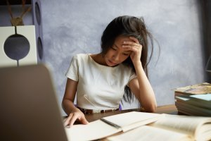 Student looking stress - Economics Tuition