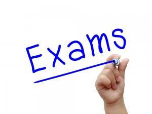 Exams written in blue ink