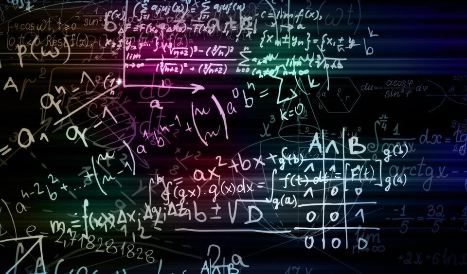 Math formula on blackboard