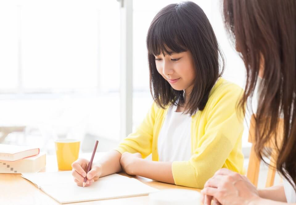 Student having lessons with tutor