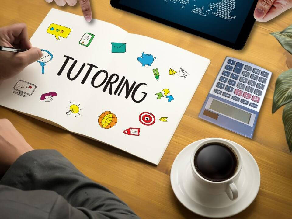 Tutoring written on a notebook