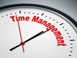An image of a nice clock with Time Management