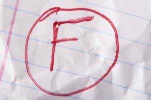 Failing grade wrinkled
